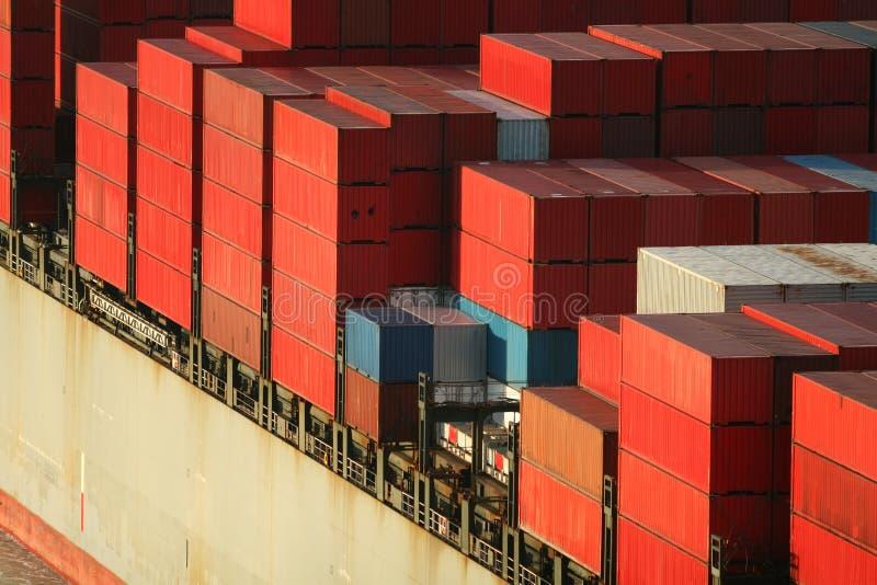 容器运费船 免版税库存图片