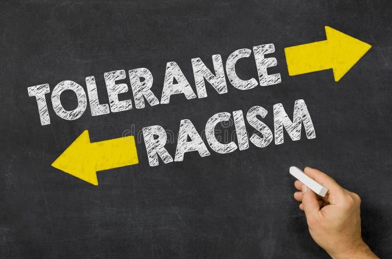容忍或种族主义 免版税库存照片