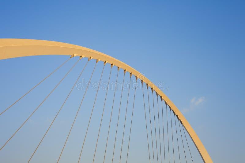 容忍桥梁在迪拜市 免版税库存照片