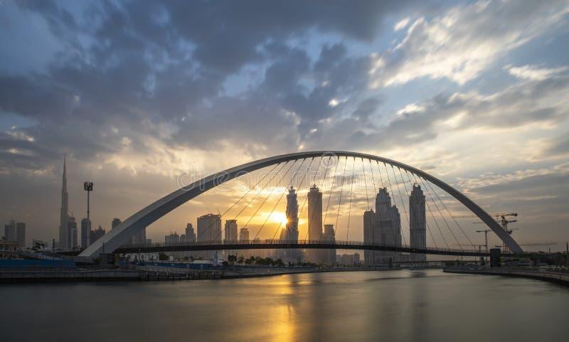 容忍桥梁在迪拜 免版税库存图片