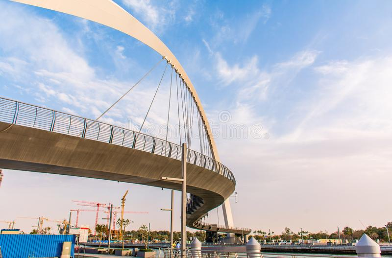 容忍桥梁现代修造的建筑学 库存照片