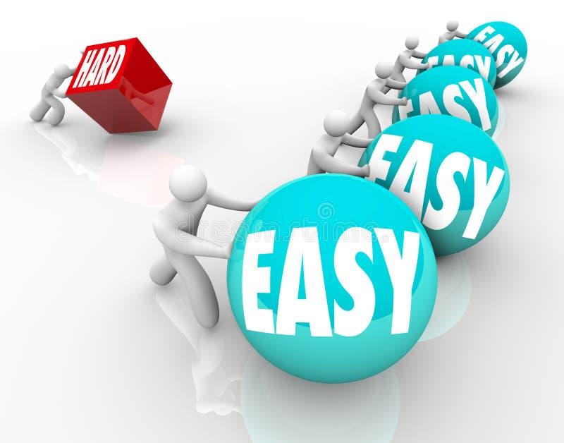 容易对克服困难的坚硬竞争的处劣势方 向量例证