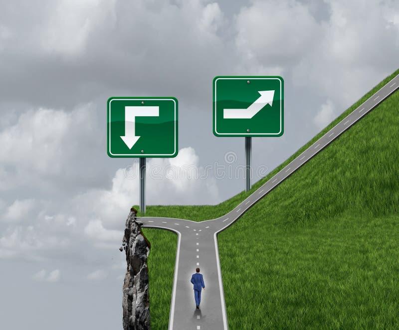容易的挑选企业和生活道路概念 皇族释放例证