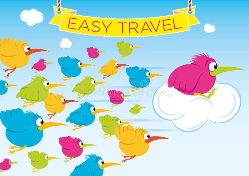容易的旅行 向量例证