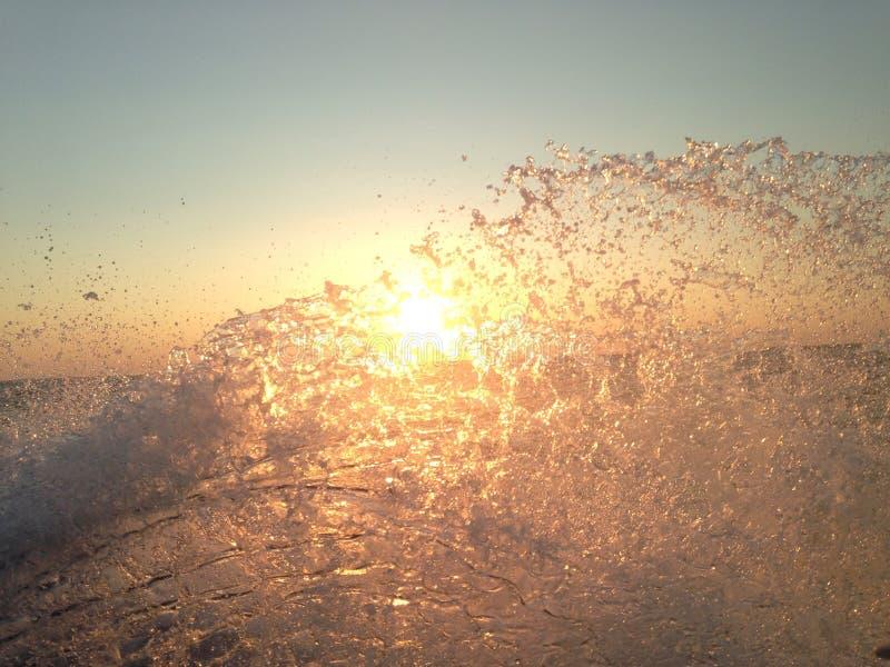 容易的海岸日落 库存图片