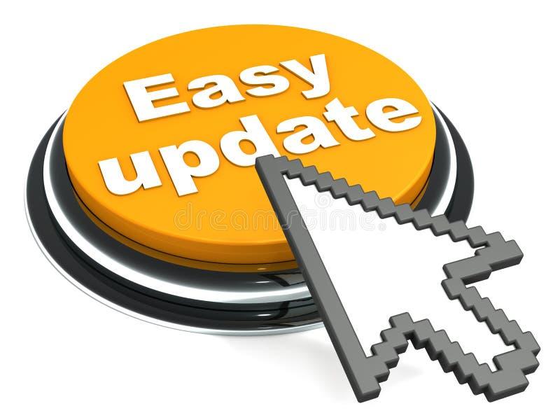 容易的软件更新 向量例证