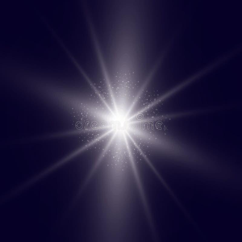容易的闪光 共同安排在蓝色背景背景的照明设备  库存图片