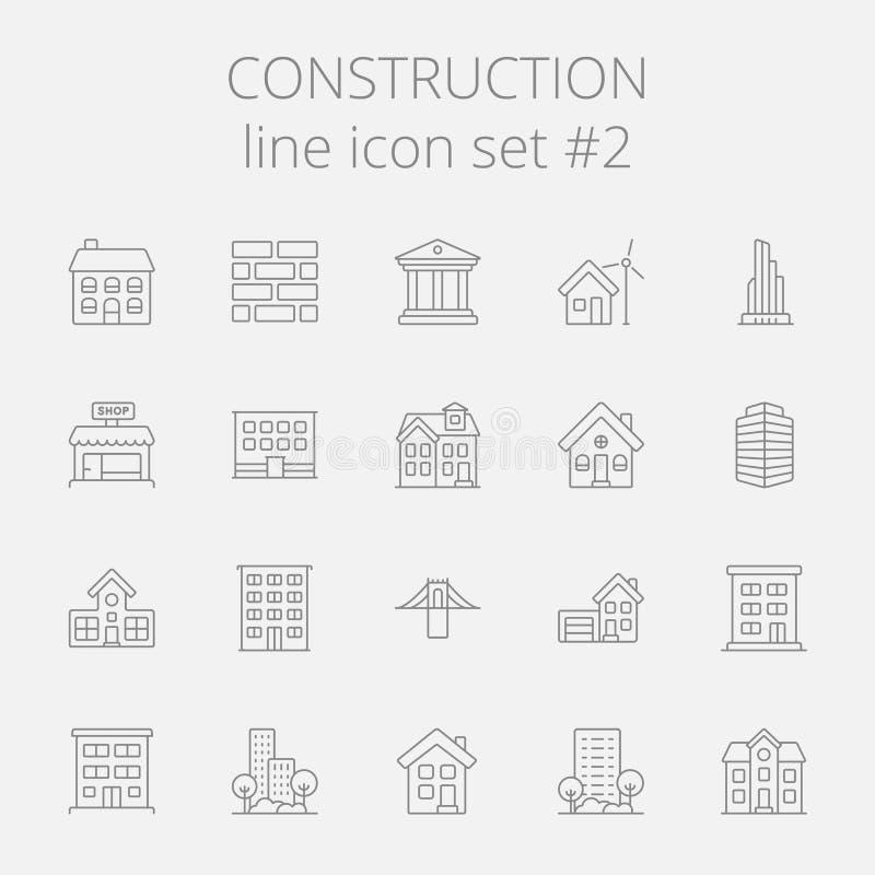 容易的建筑编辑图标映象集导航 库存例证