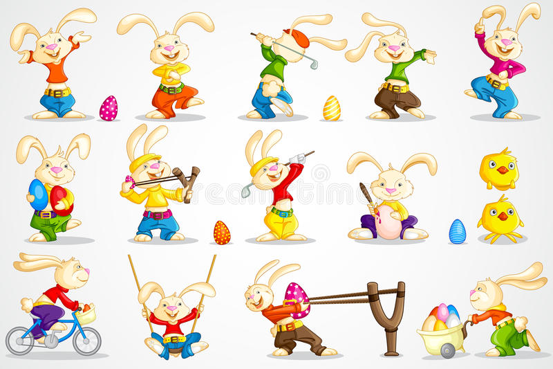 复活节兔子 库存例证