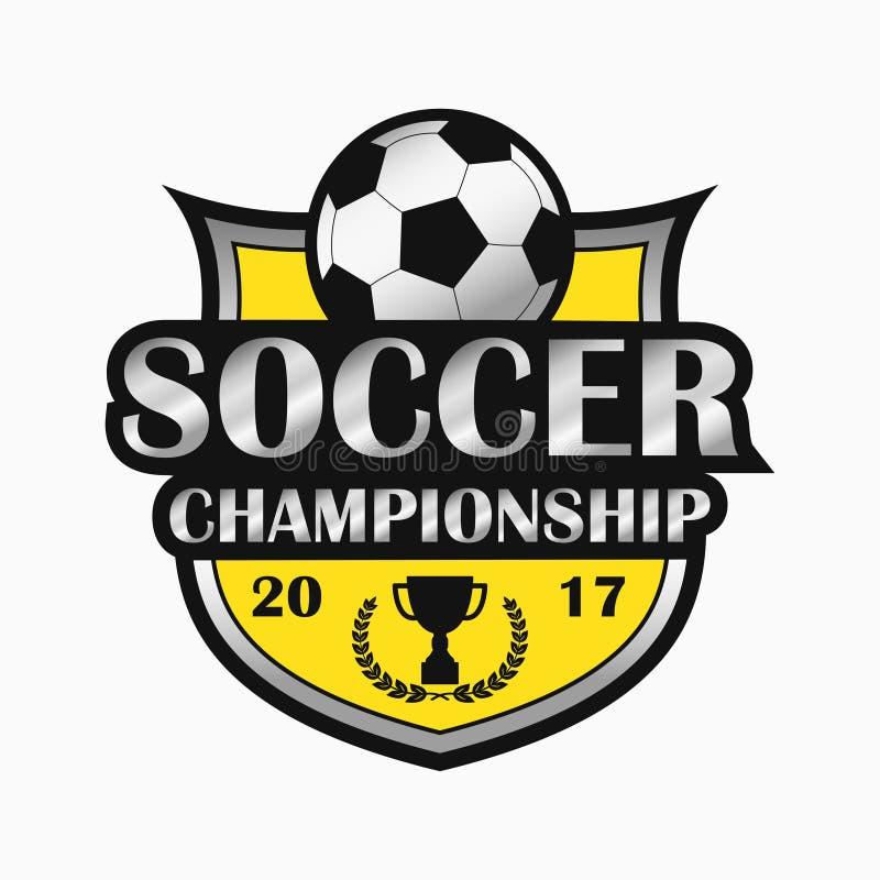容易编辑徽标足球 体育象征设计 向量 库存例证