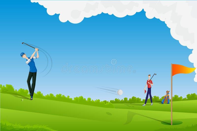 打高尔夫球的人 皇族释放例证