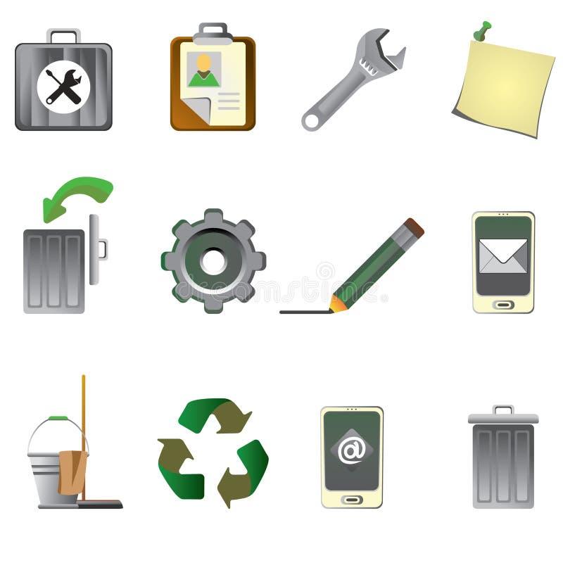 容易编辑被设置的图标互联网导航 免版税库存图片