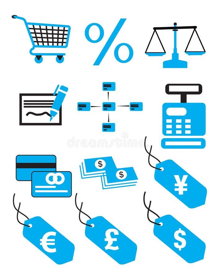 容易编辑财务图标映象集导航 皇族释放例证