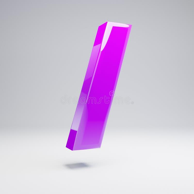 容量光滑的在白色背景隔绝的紫罗兰向前深砍标志 向量例证