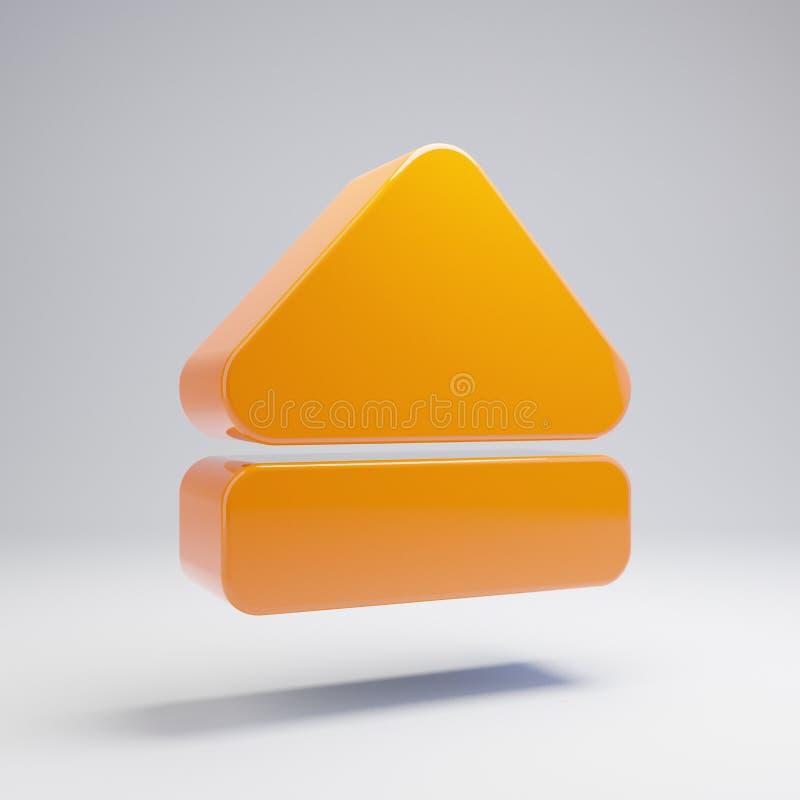 容量光滑的热的桔子抛出在白色背景隔绝的象 库存例证
