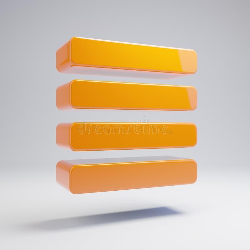 容量光滑的热的桔子排列辩解在白色背景隔绝的象 向量例证