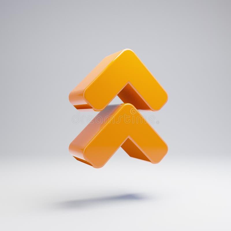容量光滑的热的橙色角度加倍在白色背景隔绝的象 库存例证