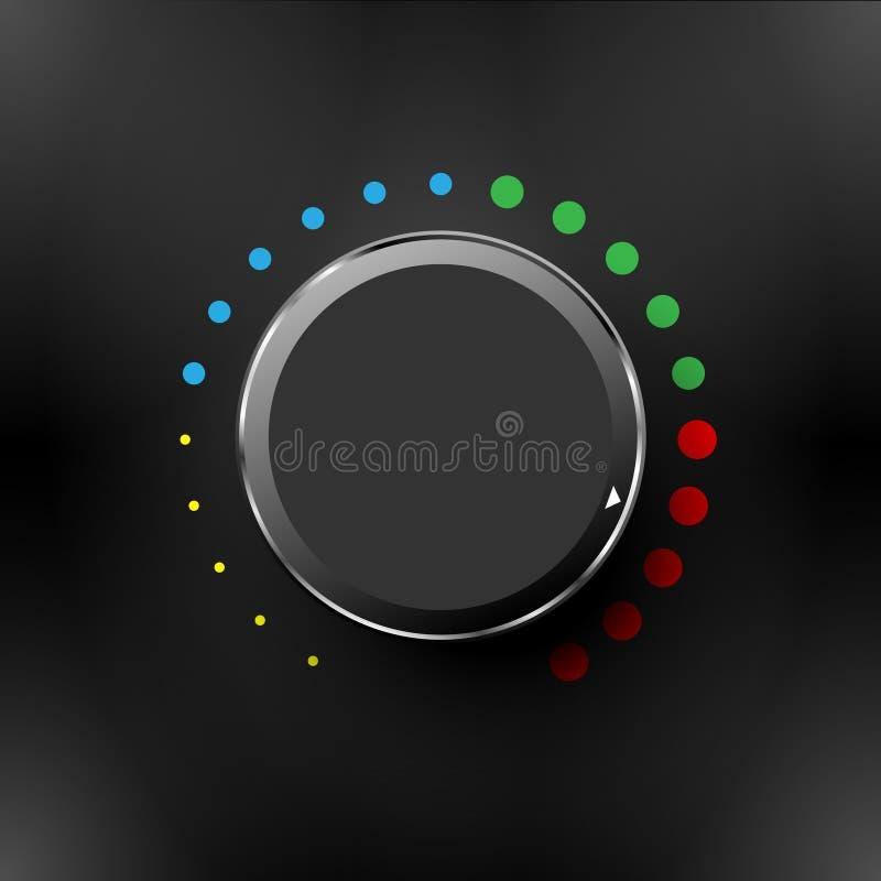 容量按钮、合理的控制、音乐瘤与纹理和标度 皇族释放例证
