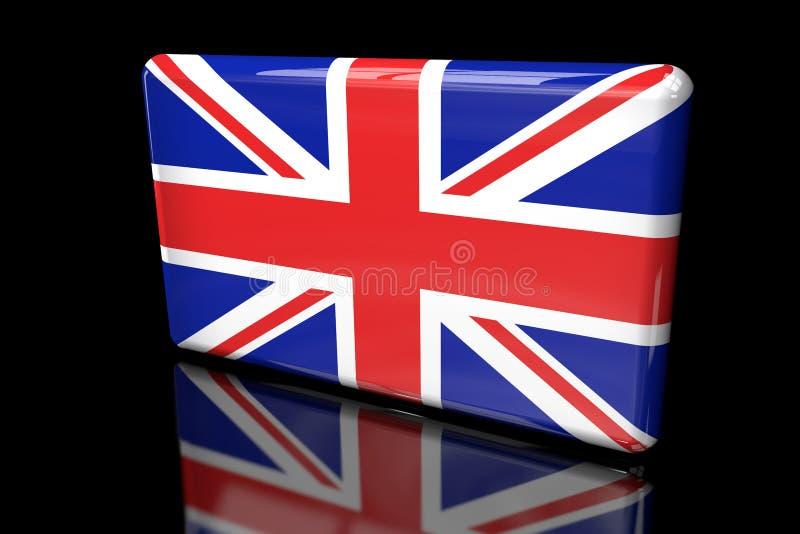 容量的大英国3D的旗子 皇族释放例证