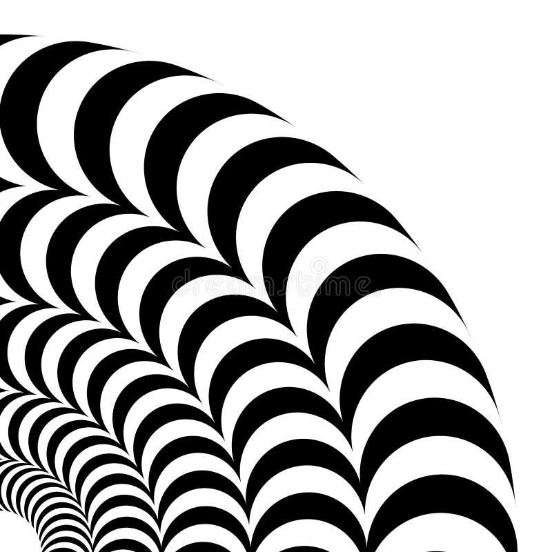 容量错觉  传染媒介隔绝了在白色背景的黑白样式 库存例证