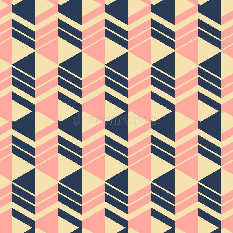 宽垂直无缝的几何时尚印刷品仿造了stri 向量例证
