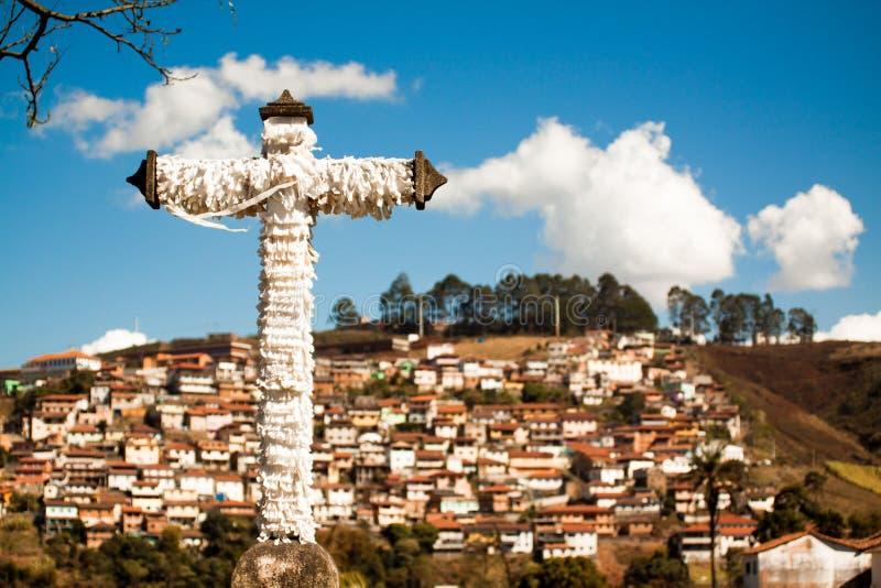 宽容十字架在历史镇 图库摄影