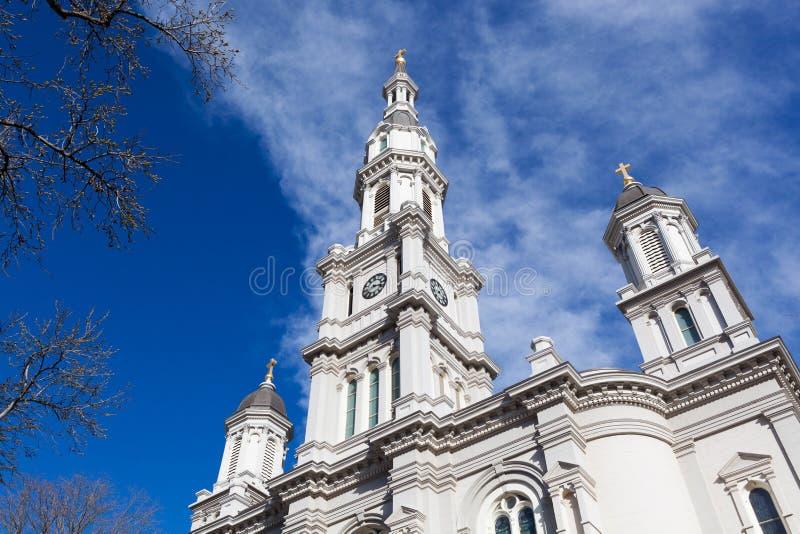 宽容大教堂在街市萨加门多 免版税库存图片