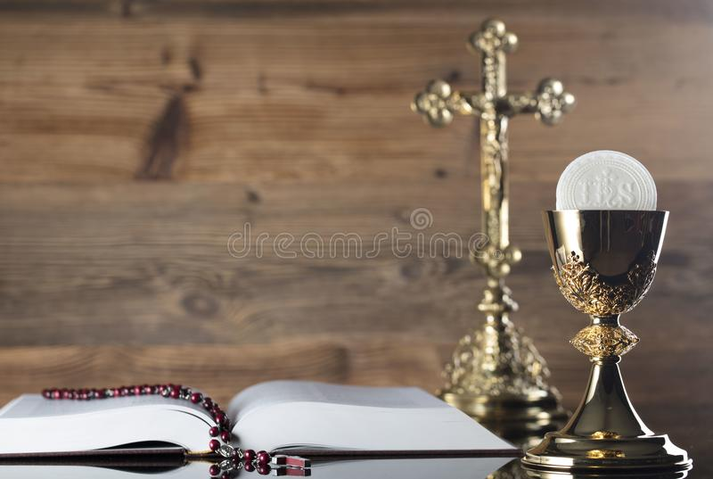 宽容宗教题材-圣餐概念 库存照片
