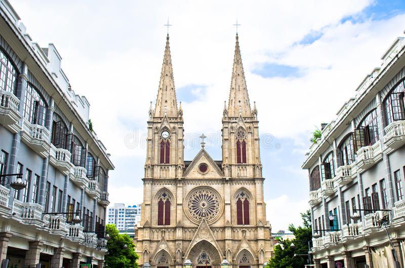 宽容瓷教会广州 图库摄影