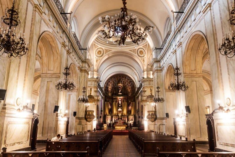 宽容雅西都主教座堂在蒙得维的亚 库存照片