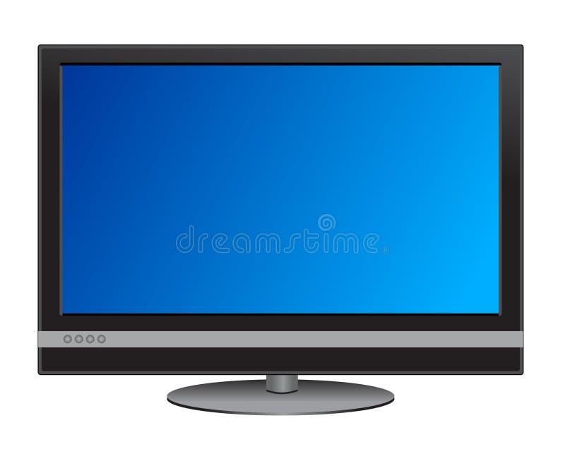 宽屏幕的电视 向量例证