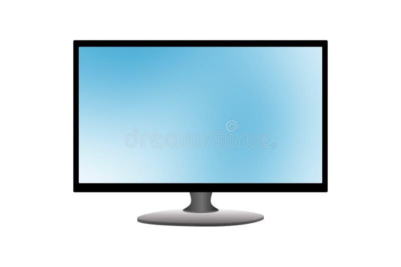 宽平面屏幕LCD计算机显示器 r 库存例证