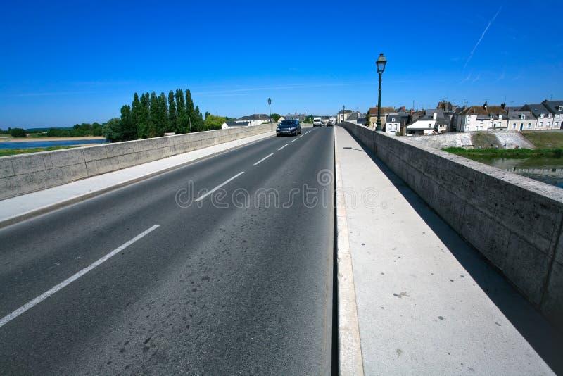 宽桥梁的河 图库摄影