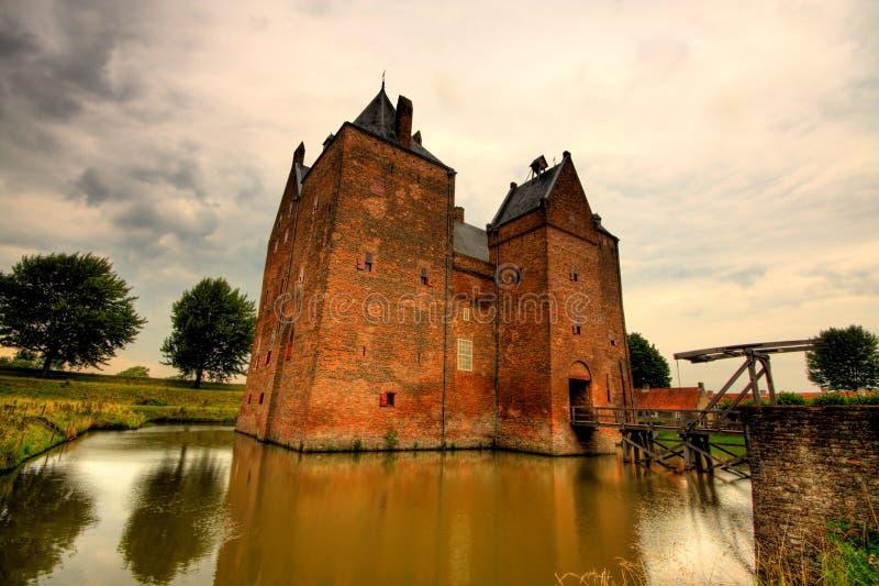 宽渔城堡视图 库存图片
