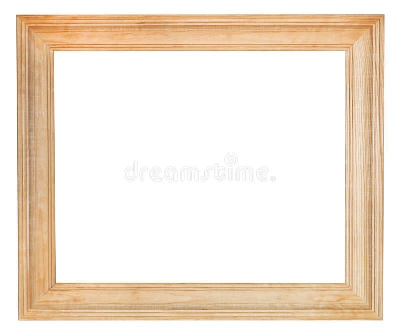 宽简单的木画框 库存照片