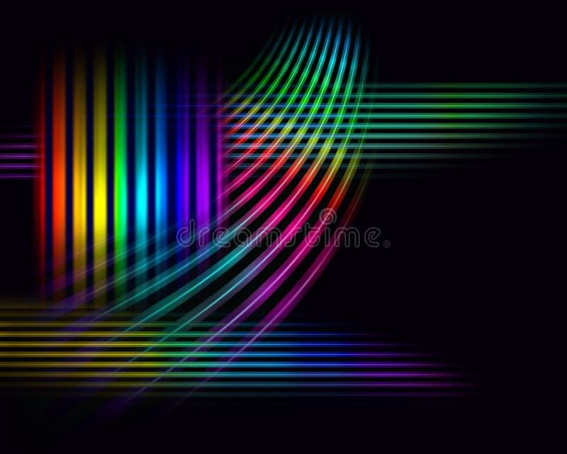宽背景的光谱 向量例证