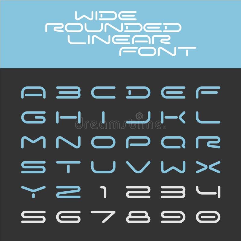 宽被环绕的概述体育techno字体 皇族释放例证