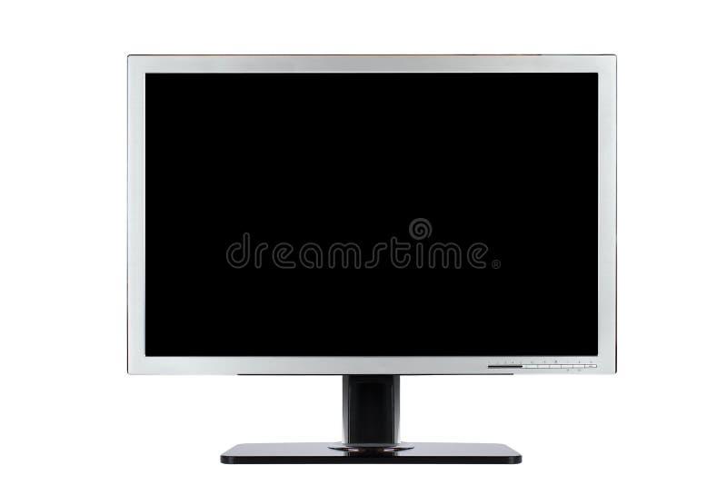 宽计算机的平面屏幕 免版税库存图片