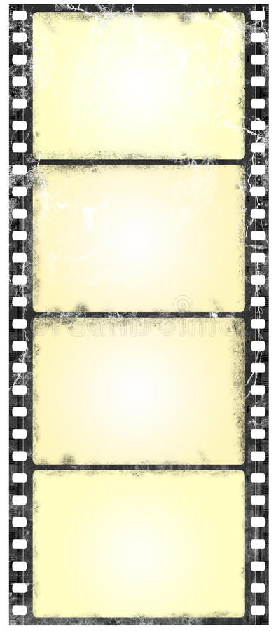 宽银幕filmstrip的grunge 向量例证