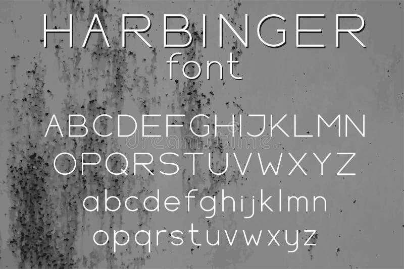 宽Sans Serif传染媒介信件 皇族释放例证