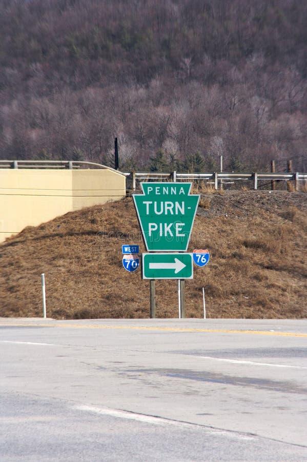 宾夕法尼亚符号收费公路 免版税图库摄影