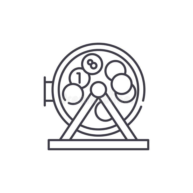 宾果游戏球和乐透纸牌线象概念 宾果游戏球和乐透纸牌传染媒介线性例证,标志,标志 库存例证