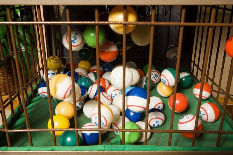 宾果游戏球 库存图片
