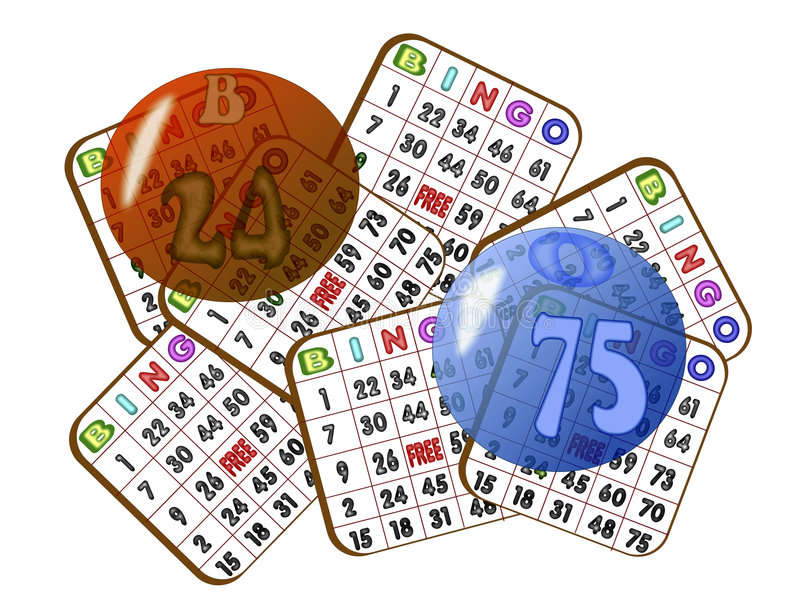 宾果游戏看板卡混杂 向量例证