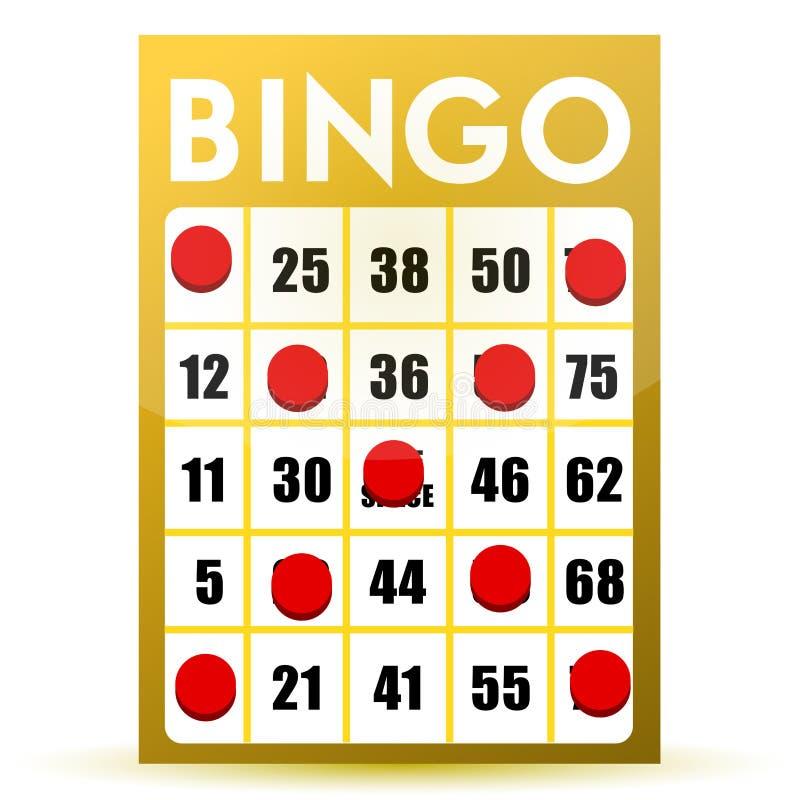 宾果游戏看板卡赢利地区黄色 向量例证