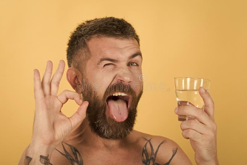 宿酒和干渴 库存图片
