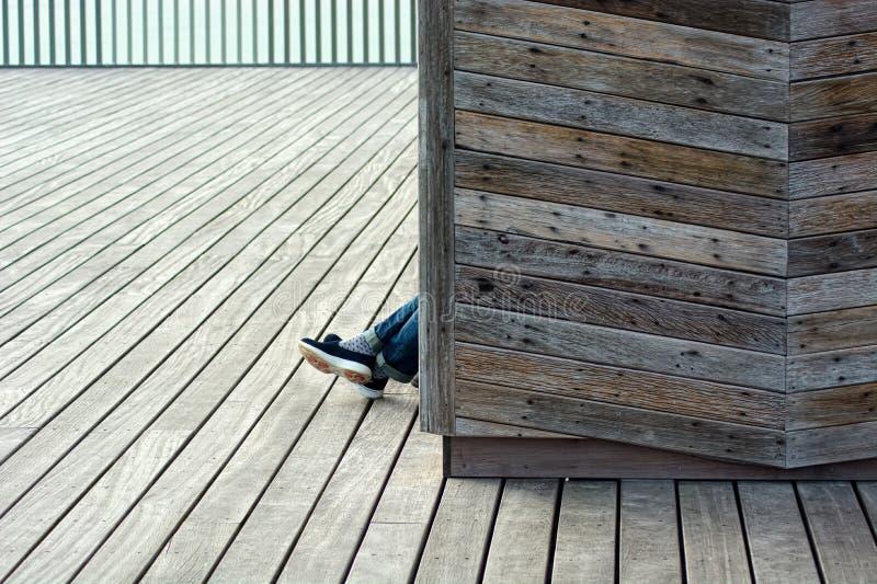 寂寞、精神健康、消沉&无家可归 免版税图库摄影