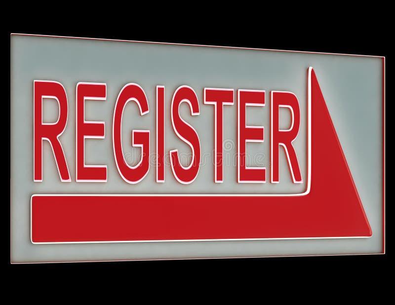 寄存器显示成员订阅的符号按钮 向量例证