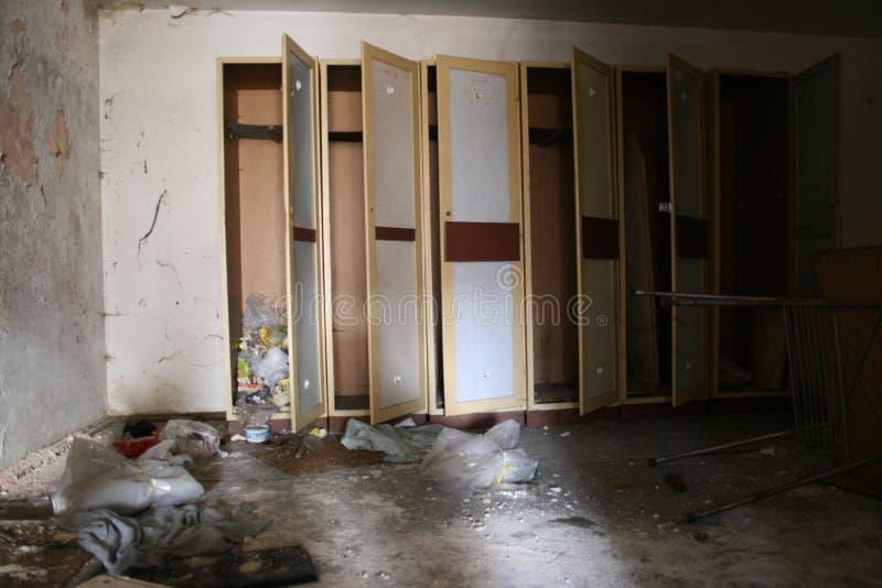 寄物处-被放弃的工厂 库存图片
