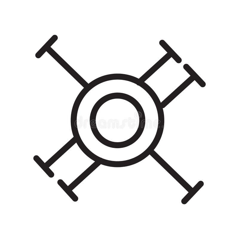 寄生生物在白色背景隔绝的象传染媒介,寄生生物签署,排行标志或线性元素设计在概述样式 库存例证